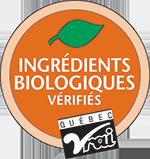 Logo certification Québec Vrai - Ingédients biologiques vérifiés