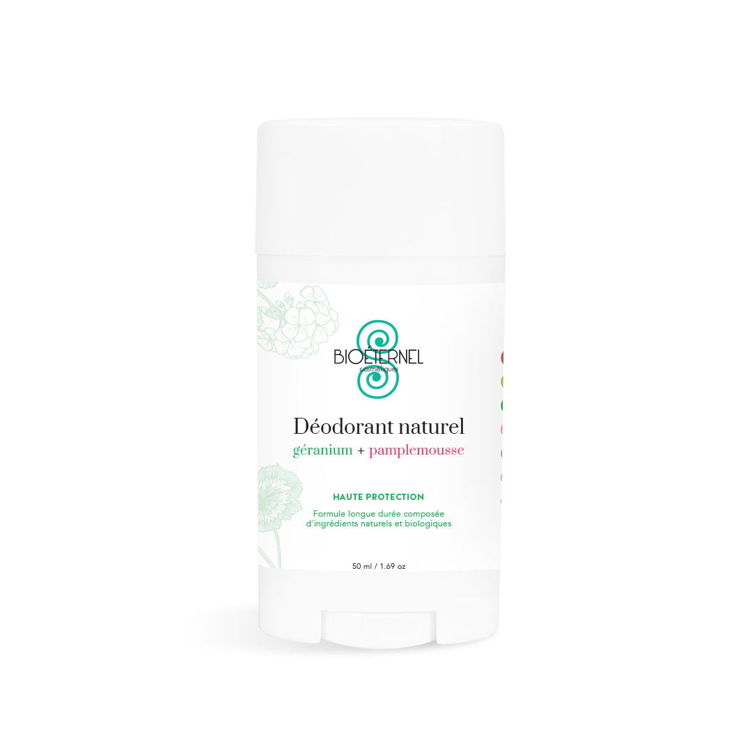 Natural deodorant geranium + grapefruit